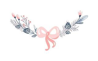 decoração de ramos de natal vetor