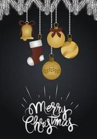 cartão de Natal de luxo vetor