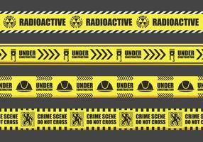Perigo Amarelo vetores fita do sinal