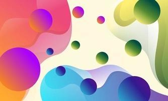 fundo de formas de fluxo colorido abstrato vetor