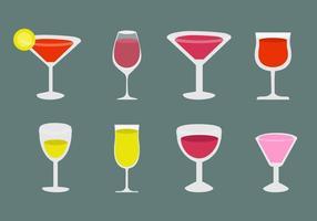 Ícones livres cocktail do álcool e Vector