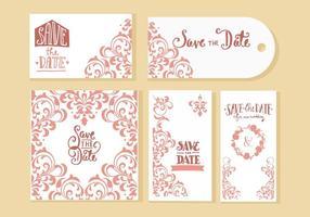 Convite livre do casamento Vector Cards