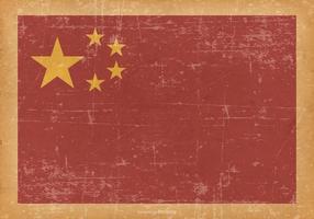Bandeira de China no fundo velho Grunge vetor