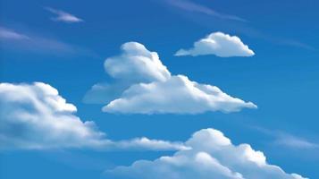 nuvens estratocúmulos no céu azul brilhante vetor