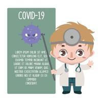 médico detalhando o covid-19