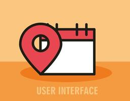 composição da interface do usuário com ícones de linha