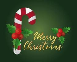 cartão de natal com bastão de doces