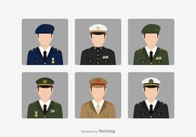 Free Vector militar brigadeiro Avatares