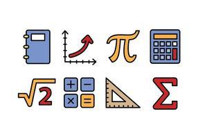 Ícones matemáticos vetor