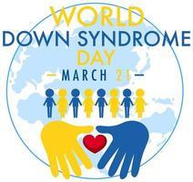 design do dia mundial da síndrome de down vetor