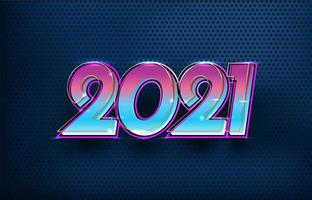 futurista elegante feliz ano novo 2021 vetor