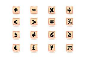 Pintado Vector Math Symbol Escova