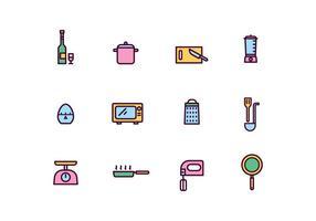 Cozinhar Ferramentas Icons vetor