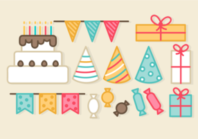 Elementos livre Festa de aniversário vetor