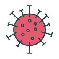 estilo de preenchimento de partícula de vírus covid19