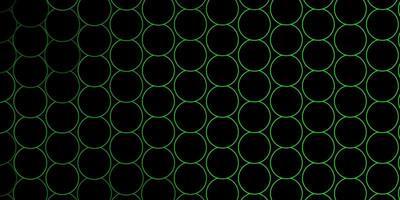 círculos verdes delineados em fundo escuro vetor