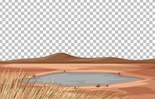 cena de paisagem de terra seca vetor