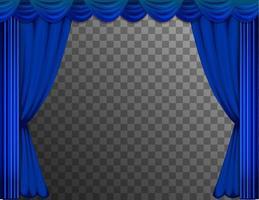 cortinas azuis do teatro vetor