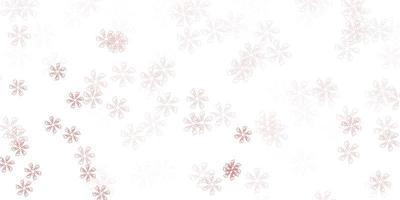layout abstrato vermelho claro com folhas.