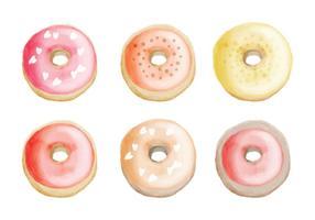 Vector Hand Drawn Donuts Colecção
