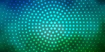 fundo azul e verde com estrelas coloridas vetor