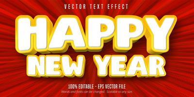 feliz ano novo efeito de texto editável vetor