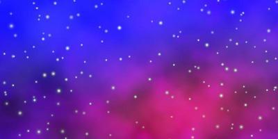 modelo azul e rosa com estrelas.