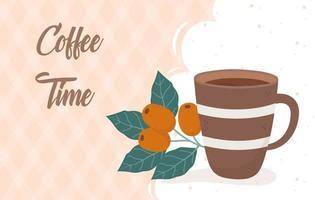 banner de bebidas na hora do café e do chá vetor