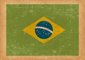 Bandeira do Brasil no Fundo velho do grunge vetor