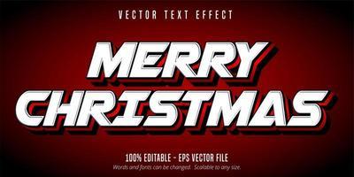 efeito de texto feliz natal vetor