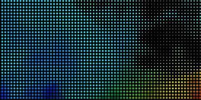 layout azul e verde com formas de círculo. vetor