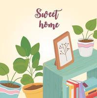 decoração e interior de casa doce vetor