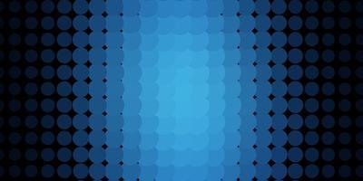 fundo azul com círculos.