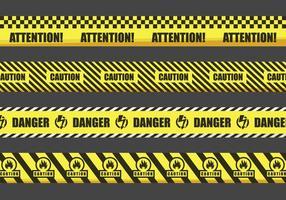 fitas de advertência ilustração vetor
