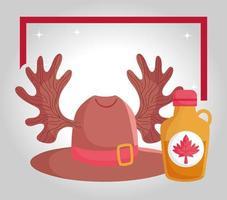 banner de celebração do feliz dia do Canadá vetor