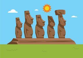 Estátuas da Ilha de Páscoa vetor