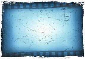 Azul Grain Film Com Vector Bokeh