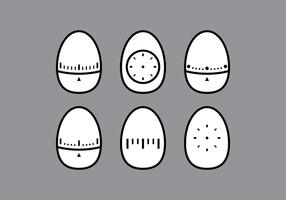 Vetores do temporizador de ovo