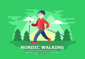 Background Nordic Walking vetor