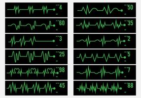 Atividade elétrica Ícone do pulso Humano vetor