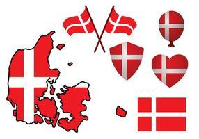 Vector bandeira dinamarquesa