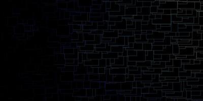 layout escuro com retângulos delineados em azul.