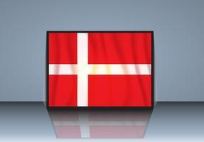 Bandeira da Dinamarca com Vector Sombra