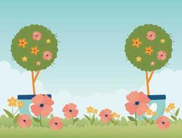 banner de celebração da primavera