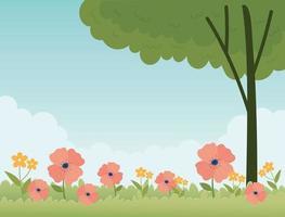 banner de celebração da primavera vetor