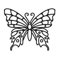 desenho de borboleta simples linha arte vetor