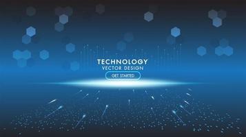 fundo de tecnologia abstrato, comunicação de alta tecnologia vetor