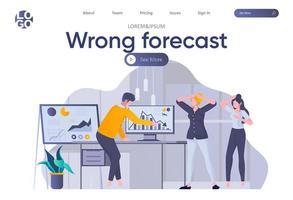 página de destino de previsão errada com cabeçalho