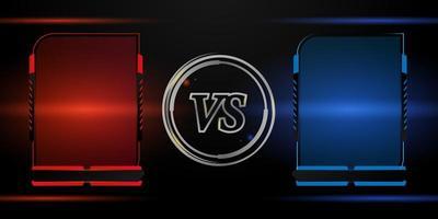 versus competição conjunto de moldura vermelha e azul vetor