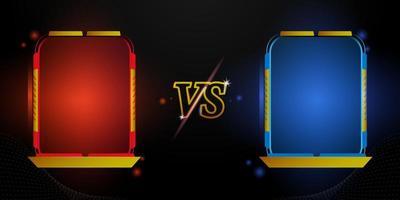 design futurista versus moldura vermelha e azul vetor